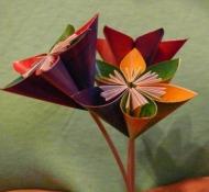 kusudama virág papírból
