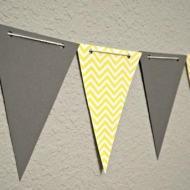 háromszög zászlók papírból