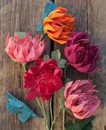 krepp virágok