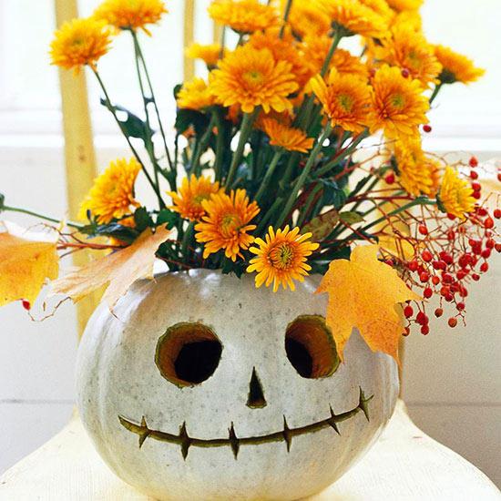 tök halálfej váza