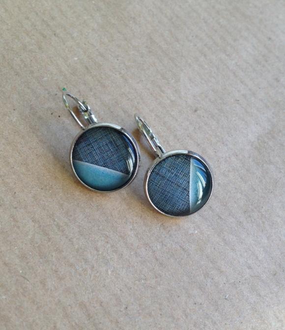 újabb kétféle kék fülbevaló